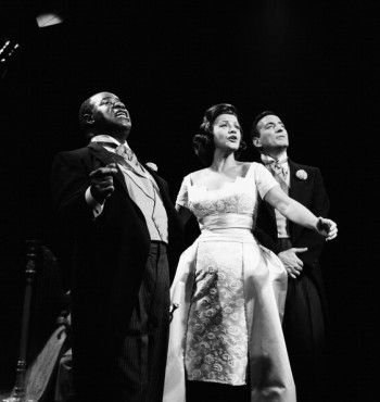 Kay Starr with Louis Armstrong and Tony Bennett on The Dinah Shore Chevy Show