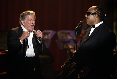 Tony Bennett and Stevie Wonder